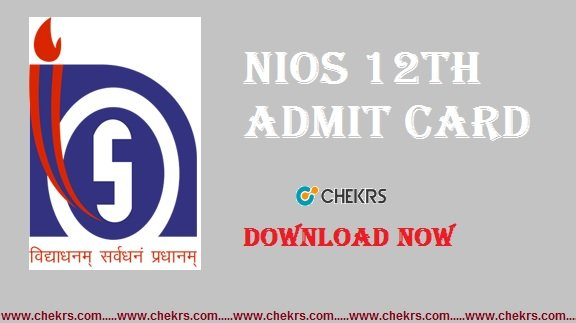 nios 12th admit card