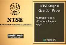 ntse stage 2 question papers