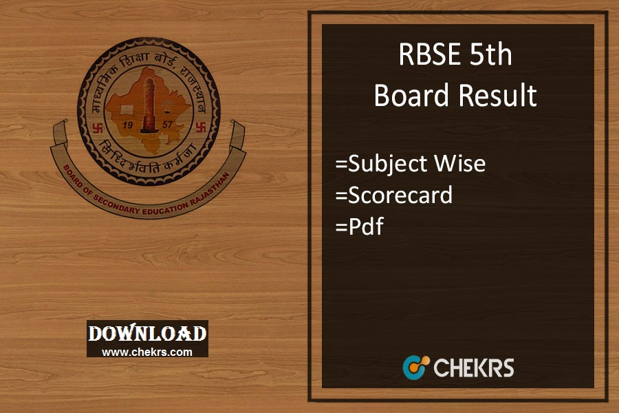 rbse 5th class result