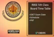 rbse 5th class time table