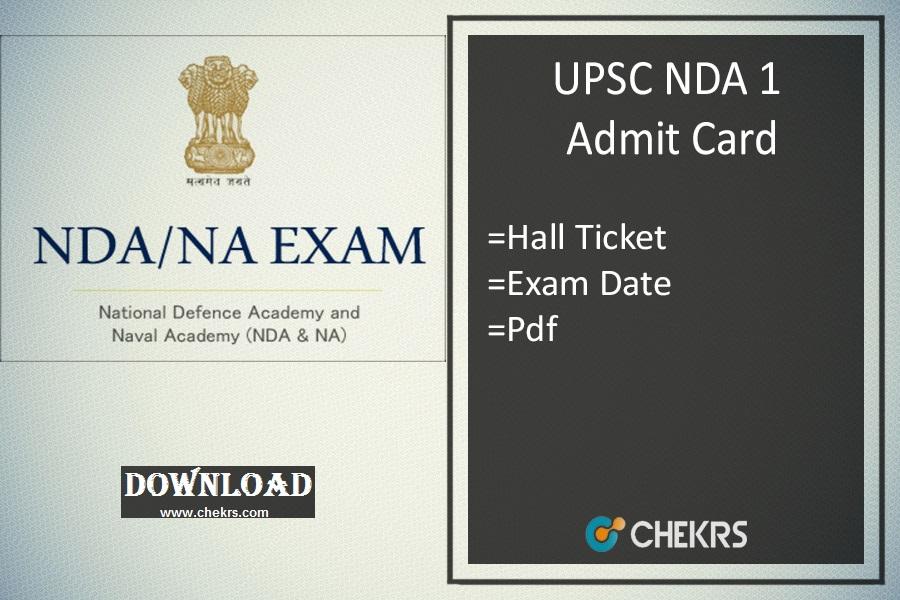 upsc nda 1 admit card
