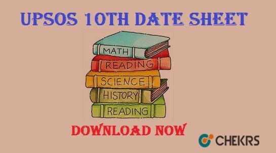 upsos 10th date sheet