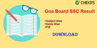 Goa Board SSC Result