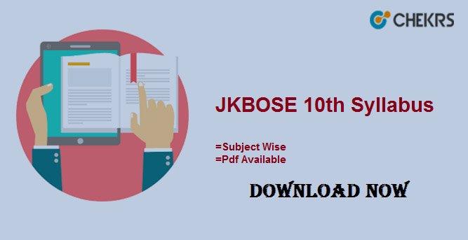 jkbose 10th syllabus