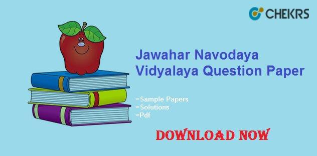 jnvst question papers