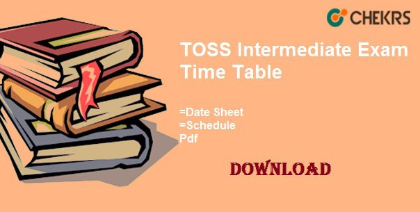 toss intermediate time table