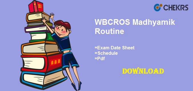 wbcros madhyamik routine