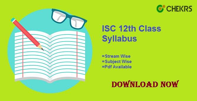 isc 12th syllabus