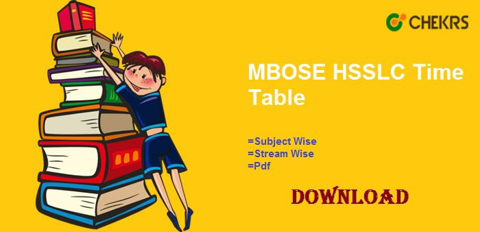 mbose hsslc time table